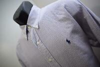 38874 Mens Polo Ralph Lauren Yarmouth Plaid Dress Shirt Size 16-33 Large