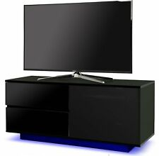 Centurion Supports GALLUS ULTRA Gloss Black with 2-Drawers & LED Lights TV Stand