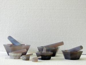 Achatmörser St-25+Pistill, Mörser Achat, Agate Mortar, Mortier Agate, Mortar,