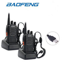 Baofeng BF-888S Walkie Talkie UHF 400-470MHz 5W Ham 2-Way Radio Transceiver 2Pcs