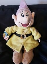 disney store small dopey dwarf plush soft toy seven dwarves with tags
