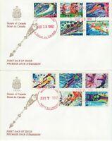 Senate Of Canada cachet -FDC 1992 -1399-1403&1414-1418, winter & summer olympics