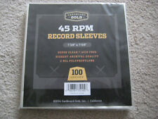 100 NEW CLEAR PLASTIC POLYPROPYLENE RECORD SLEEVES FOR 7 INCH 45 RPM RECORDS