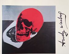 ANDY WARHOL HAND SIGNED SIGNATURE * SKULL *  PRINT  W/ C.O.A.