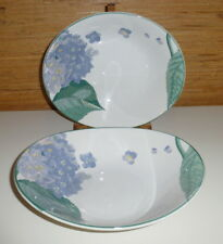 "2 Sango Larry Laslo SOUTHAMPTON Hydrangea 10"" Vegetable Serving Bowls"