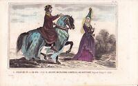Charles IV le Bel Roi de France Capétien Jeanne de Flandre de Montfort 1840