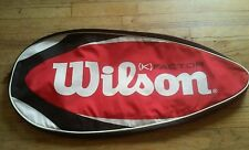 wilson k factor tennis racquet bag holds 1 red black white used nice condition