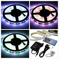 LED 5m RGBW FLEXIBLE STRIP NASTRO digitale luce cambia colore + IR Telecomando + Alimentatore