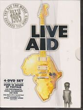 LIVE AID 1985,4 DVD SET, LIKE NEW CONDITION COMES WITH BOOKLET, REGION 2 3 4 5 6