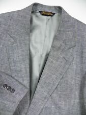 BROOKS BROTHERS MENS 51 41 L BLAZER JACKET SPORTCOAT 100% LINEN GREY MADE IN USA