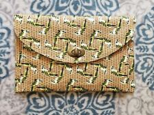 Designer Inspired Parrot Straw Clutch Handbag Summer Resort Bag
