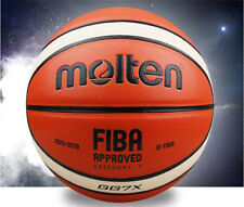 Leather Molten GG7X 7 Basketball Sports Training Boys playing Ball with pin&bag