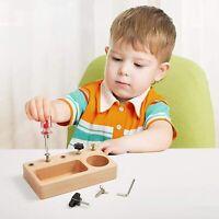 Wooden Toys Toddlers Montessori Practical Sensory Pinball Tray Bead Educational
