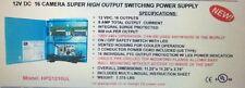 MG ELECTRONICS HPS1216UL 16 CH CCTV CAMERA POWER BOX 12V DC 800ma Each 12 Volt
