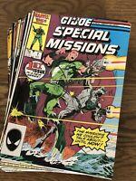 G. I. Joe Specials Missions Lot of 26 Near Complete Set Marvel 1986-1989!