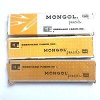 34 Vintage Eberhard Faber Mongol 482 Pencils No F Original Boxes Eberhard Farber