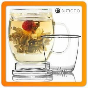 400ml Teebereiter Teamaker Teekanne mit Teefilter Teesieb aus Borosilikat-Glas