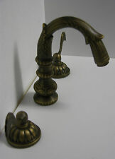 ANTIQUE BRASS SINK FAUCET MATCH OUR TUB SET ALLBRASS 02