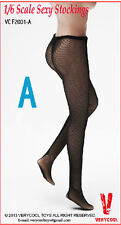 "1/6 VERYCOOL Female Woman Girl Black Lace Mesh Stockings F 12"" Figure Body Toys"