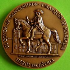 Marquis of Marialva / Count of Cantanhede / Horse / Grapes BIG Bronze Medal. M33
