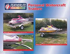 Prospekt Bootsanhänger Featherlite Watercraft Trailers 2000 USA brochure 1A!