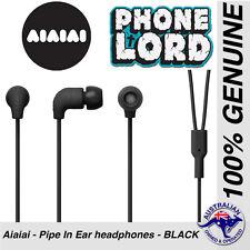 Genuine AIAIAI Pipe earphones headphones in ear buds BLACK for iPhone MFi w/mic