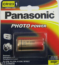 Panasonic Lithium CR123 CR123A 123 Photo Battery x 1