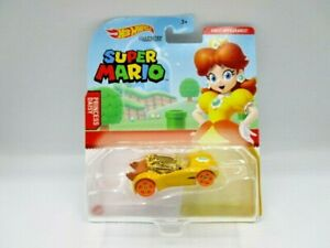 Hot Wheels Super Mario Character Cars Princess Daisy Diecast Car Brand New