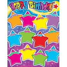 "Happy Birthday Gumdrop Stars Learning Chart, 17"" x 22"" Trend Enterprises Inc. T-"