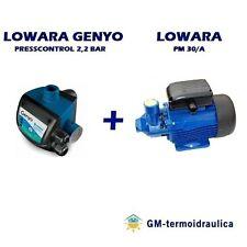 Kit Autoclave Elettropompa LOWARA PM 30 + Press Control LOWARA GENYO 8A/F22