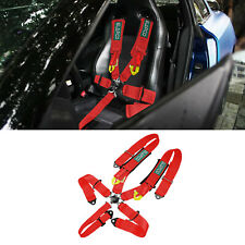 Red 5 Point Safety Harness Racing Shoulder Pad Safety Seat Belt Cam Lock For Atv