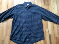Men's multicolor plaid/check Alex Cannon 100% cotton long sleeve shirt size L-XL