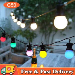 43ft Waterproof LED Globe String Festoon Light Bulb Mains Powered Outdoor Decor