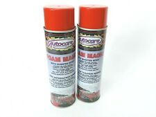 Autocare carpet upholstery fabric cloth foam magic cleaner detailing spary 2 pk