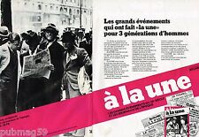 "Publicité advertising 1979 (2 pages) Editions Atlas Actualités ""A la Une"""