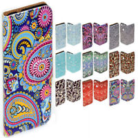 For Apple iPhone Series Case - Paisley Print Flip Wallet Phone Case Cover