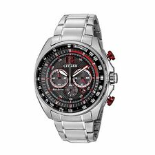Citizen Eco-Drive Men's CA4190-54E Chronograph Red Accents Black Dial 45mm Watch