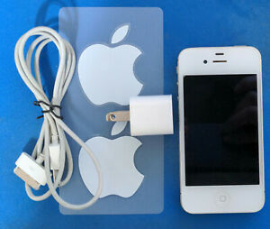 Apple iPhone 4S - White MC924LL/A 16 GB (w/FREE Offical Apple Decals!)