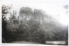27325 Foto AK Sächsische Schweiz um 1935 Hoher Torstein 63, rückseitig Schreiben