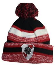River Plate SOCCER HAT BEANIE POM POM RED WHITE BLACK