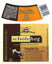 Stevens Point Brewery PUMPKIN ALE beer label WI 12oz Limited Release