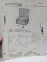 Vintage Sams Photofact Folder Radio Parts Manual Hudson Electronics 3W Record