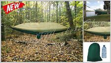 Nylon Parachute Hammock Earth Mosquito Net Camping Lightweight Outdoors Green .