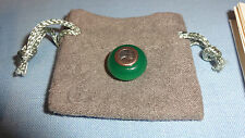 Welsh Clogau Silver & Rose Gold Chrysoprase Bead Charm RRP £89