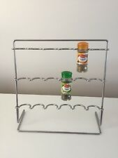 Chrome Silver Contemporary Spice Rack