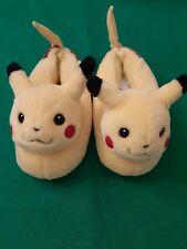Vintage 1999 Pokemon Pikachu Plush Soft Slippers Home Warm Size L 2-3