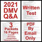 2021 California DMV Commercial Class A&B Written Test Q&A Answers CDL Permit CA