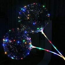 LED Light Balloons Clear Balloon Wedding Party Srting Light Decor Bubble 18''