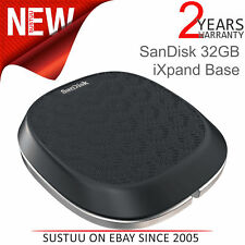 Sandisk 32GB Ixpand Base │ para Iphone/Ipad Cargador & Automático Backup │ Negro