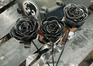 Handmade Welder Metal Rose Steel Valentine